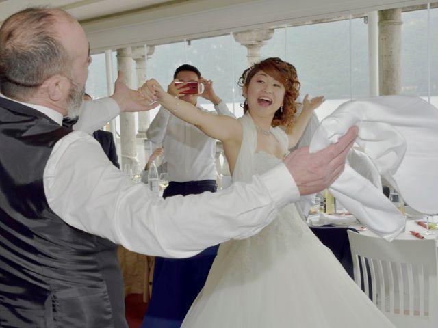 Il matrimonio di Davide e Aya a Lierna, Lecco 51