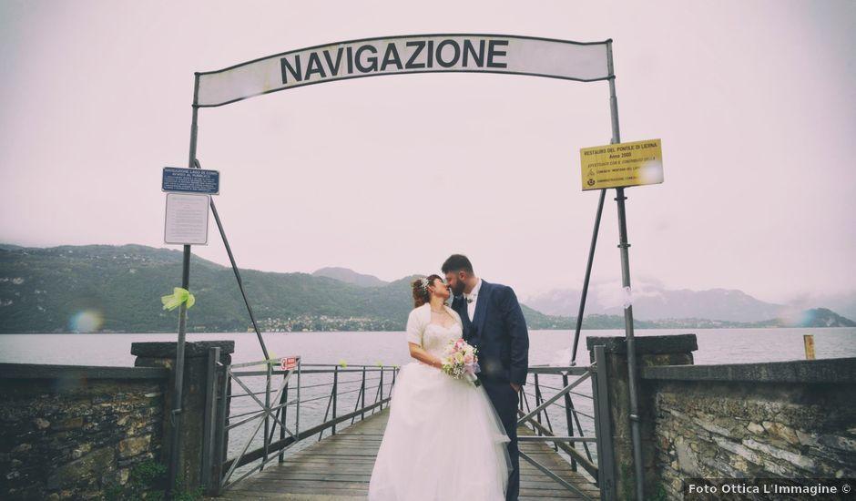 Il matrimonio di Davide e Aya a Lierna, Lecco