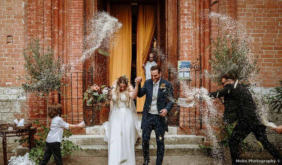 Il matrimonio di Marcello e Chiara a Buonconvento, Siena