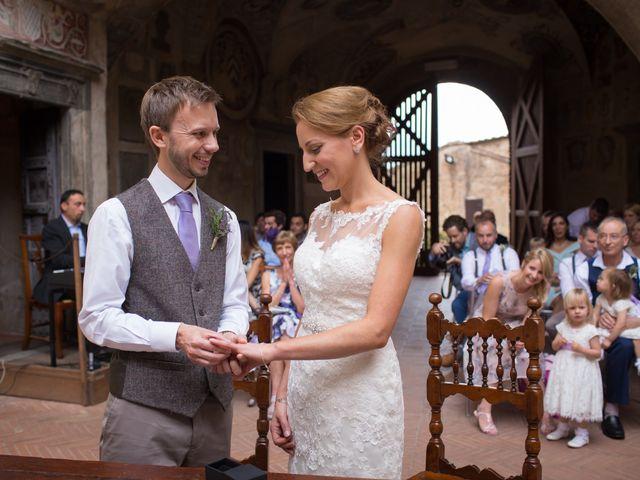 Il matrimonio di James e Nicola a Certaldo, Firenze 1