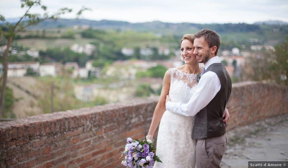 Il matrimonio di James e Nicola a Certaldo, Firenze