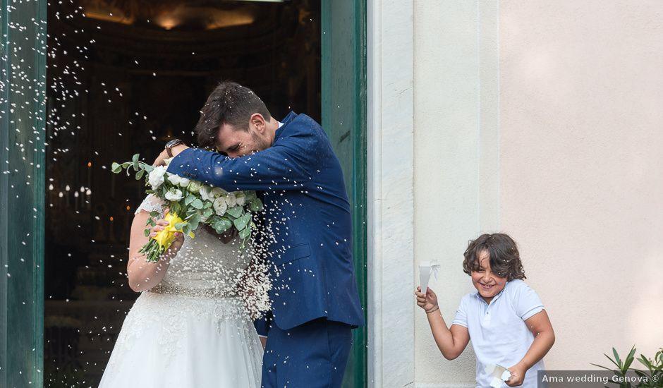 Il matrimonio di Fabio e Marika a Serra Riccò, Genova