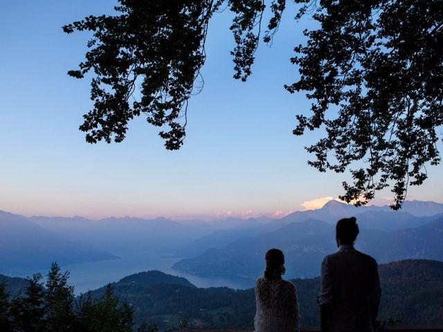 Il matrimonio di Tiziano e Marlene a Civenna, Como 92