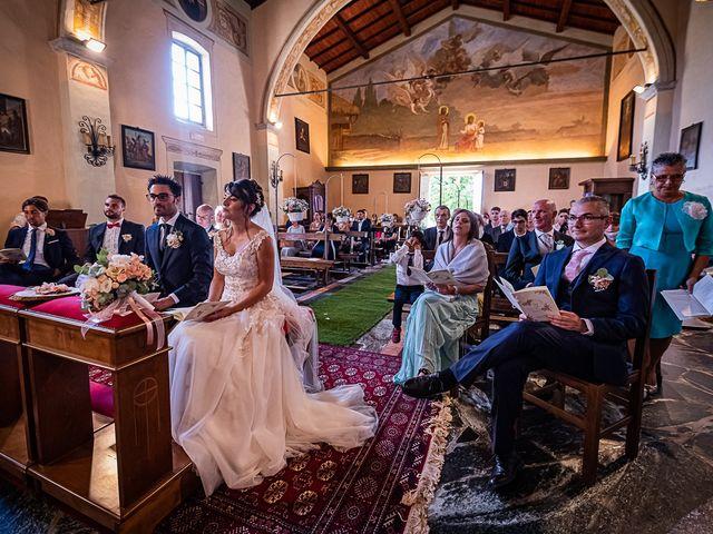 Il matrimonio di Mattia e Elisa a Brenta, Varese 34