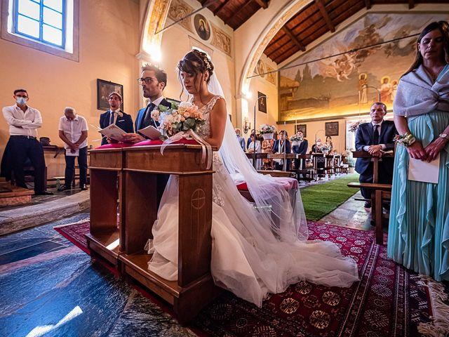 Il matrimonio di Mattia e Elisa a Brenta, Varese 39