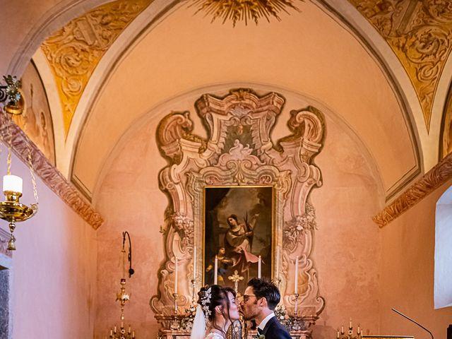 Il matrimonio di Mattia e Elisa a Brenta, Varese 42