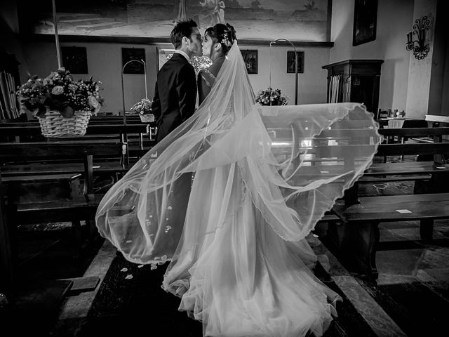Il matrimonio di Mattia e Elisa a Brenta, Varese 43