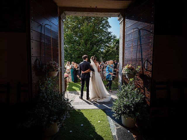 Il matrimonio di Mattia e Elisa a Brenta, Varese 46