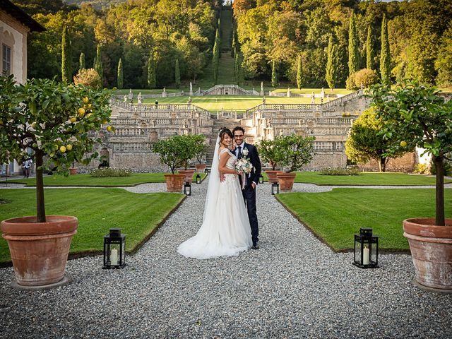 Il matrimonio di Mattia e Elisa a Brenta, Varese 54