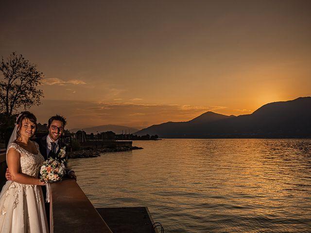 Il matrimonio di Mattia e Elisa a Brenta, Varese 75