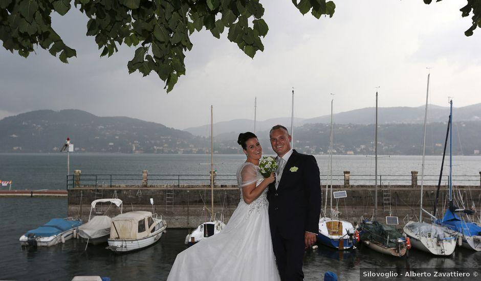 Il matrimonio di Davide e Elona a Angera, Varese