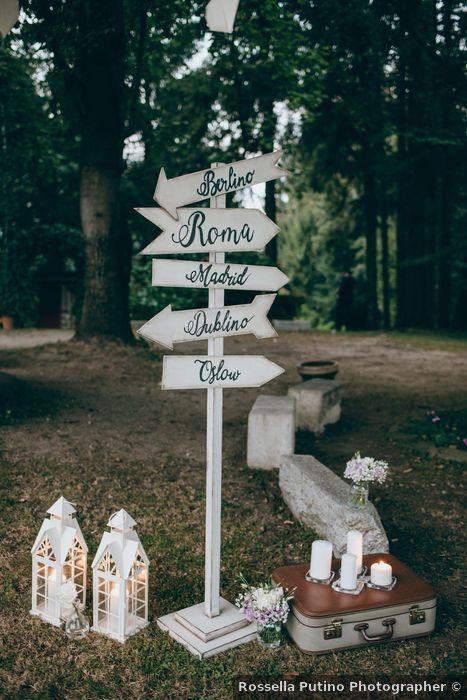Matrimonio all'aperto: i cartelli 2