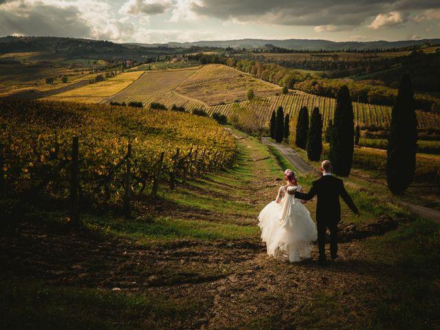 Il matrimonio di Tiziano e Laura a San Gimignano, Siena 1