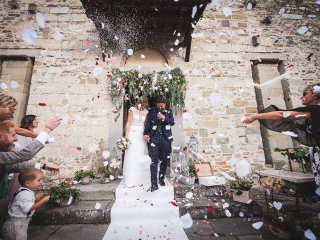 Il matrimonio di Leonardo e Alessandra a Castel Focognano, Arezzo 23