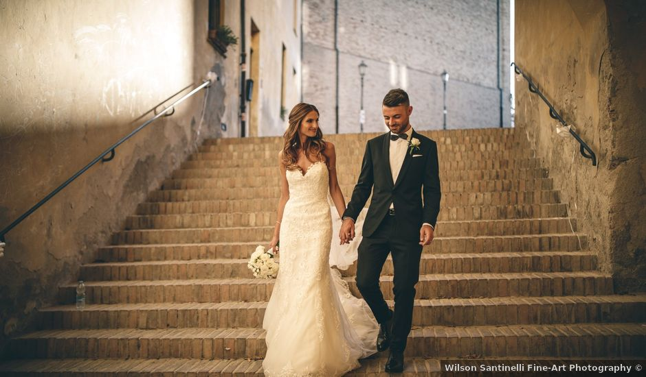 Il matrimonio di Mattia e Vittoria a Serra de' Conti, Ancona
