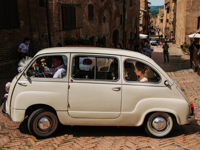 Il matrimonio di Enrico e Sara a Certaldo, Firenze 35