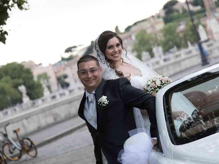 le nozze di Melania e Cristian