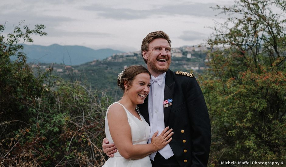 Il matrimonio di Tommy e Malene a Apricale, Imperia