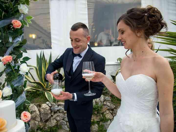 le nozze di Alma e Elton