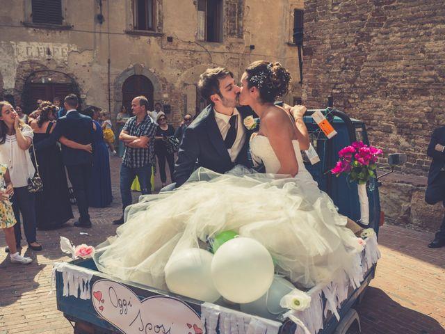 Il matrimonio di Alessandro e Francesca a Certaldo, Firenze 41