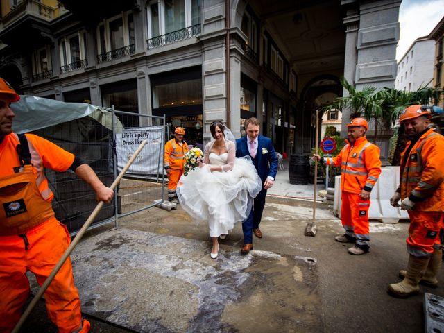 Il matrimonio di William e Nausikaa a Luino, Varese 37