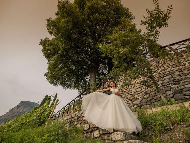 Il matrimonio di Dario e Federica a Lierna, Lecco 1
