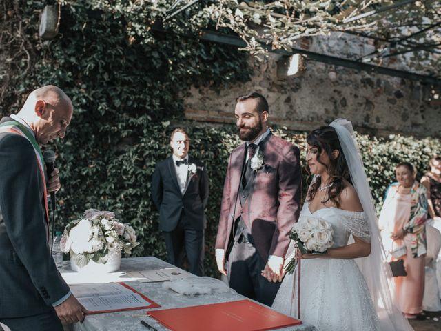Il matrimonio di Tommaso e Sara a Bodio Lomnago, Varese 110