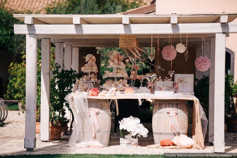 Matrimonio all'aperto: l'angolo delle bomboniere 2