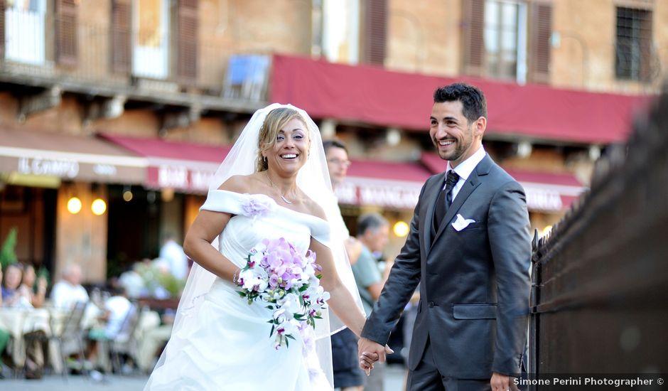 Il matrimonio di Monica e Alessio a Monteriggioni, Siena