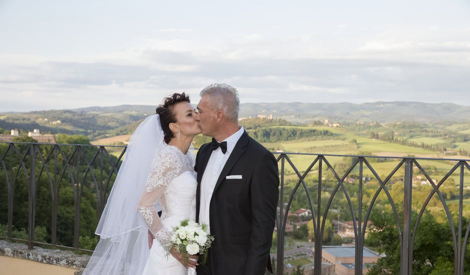 Il matrimonio di Saverio e Ana Maria a Poggibonsi, Siena