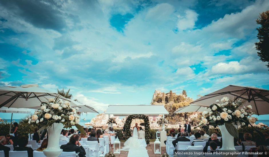 Il matrimonio di Melchiorre e Elisa a Taormina, Messina