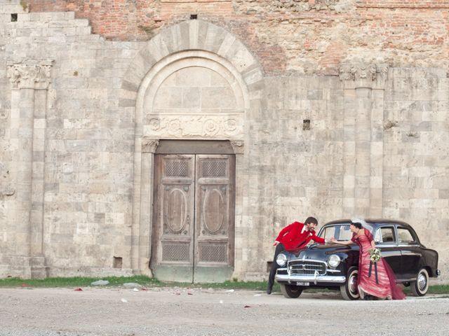 Il matrimonio di Fabrizio e Kiki a Chiusdino, Siena 16