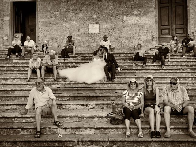 Il matrimonio di Emanuele e Erina a San Gimignano, Siena 44