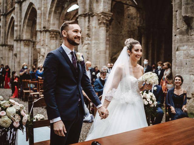 Il matrimonio di Jonathan e Giulia a Chiusdino, Siena 12