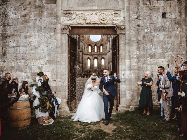 Il matrimonio di Jonathan e Giulia a Chiusdino, Siena 17