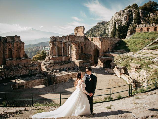 Il matrimonio di Dario e Morena a Taormina, Messina 53