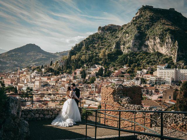 Il matrimonio di Dario e Morena a Taormina, Messina 54