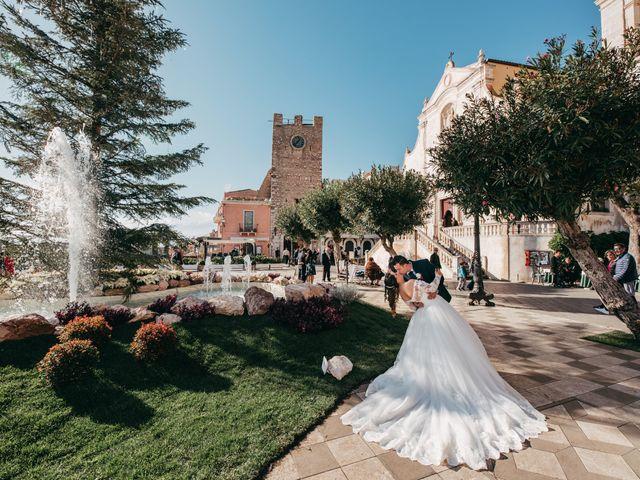 Il matrimonio di Dario e Morena a Taormina, Messina 83