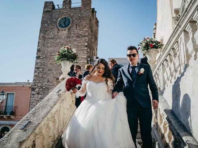 Il matrimonio di Dario e Morena a Taormina, Messina 114