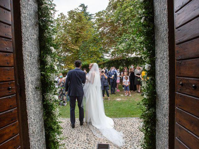 Il matrimonio di Lorenzo e Francesca a Albavilla, Como 34