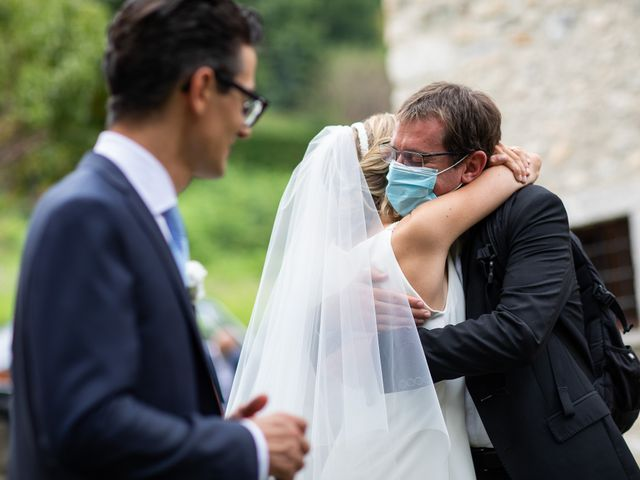 Il matrimonio di Lorenzo e Francesca a Albavilla, Como 38
