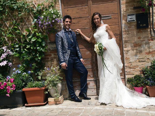 le nozze di Francesca e Moreno