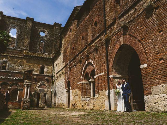 Il matrimonio di Laura e Mattew a Chiusdino, Siena 61