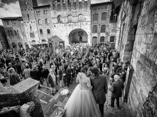 Il matrimonio di Francesco e Victoria a San Gimignano, Siena 54