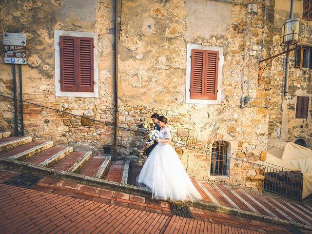 Il matrimonio di Francesco e Victoria a San Gimignano, Siena 56