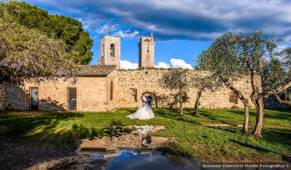 Il matrimonio di Francesco e Victoria a San Gimignano, Siena