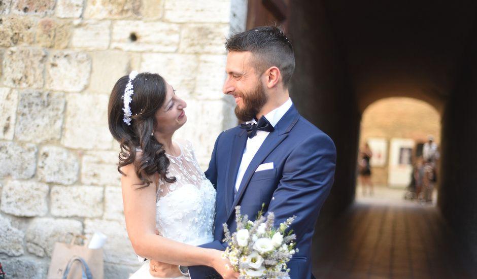 Il matrimonio di Filippo e Laura a San Gimignano, Siena