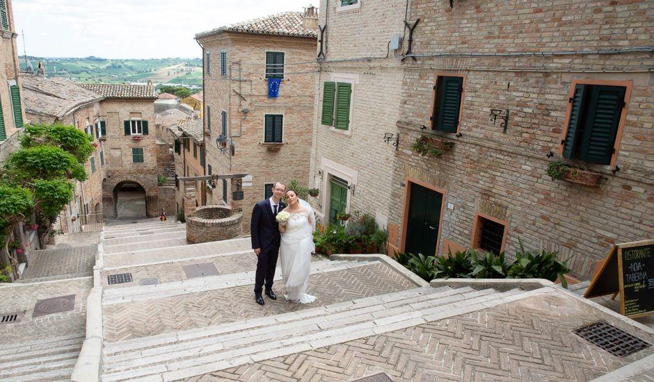 Il matrimonio di Christian e Raffaela a Corinaldo, Ancona
