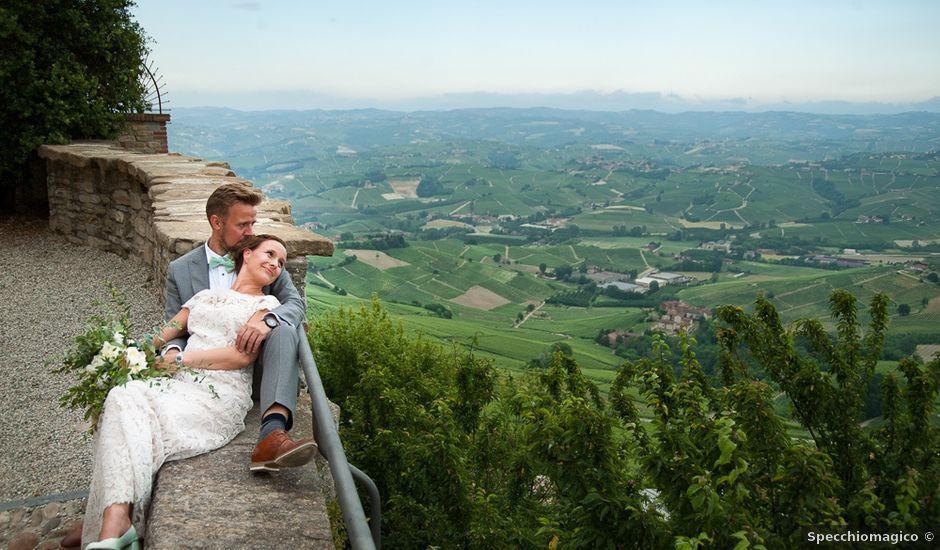 Il matrimonio di Jarle e Hedvig a La Morra, Cuneo