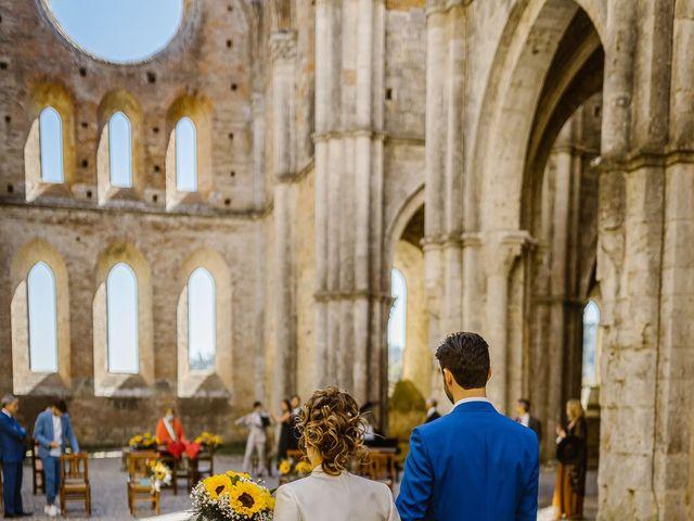 Il matrimonio di Giancarlo e Lorena a Chiusdino, Siena 22